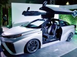 Toyota displays a customized Time Machine at the launch of the Toyota Mirai fuel cell vehicle at Quixote Studios on Tuesday, Oct. 20, 2015, in West Hollywood, Calif. (Photo by Jordan Strauss/Invision for Toyota/AP Images)