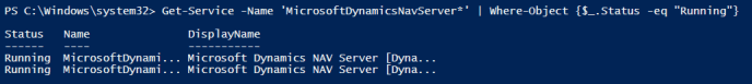 Restart Dynamics NAV Service with Powershell