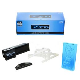 250 Zen Light King Size Cigarette Tubes with Shooter/Injector and Dragon Cigarette Case