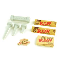 Raw Pre-Rolled Cone Tips Perfecto with Dank Paper King Size Cannagar Cone Builder Mold Tool Kit Easy Bundle with Bonus Raw Classic King Size Slim Rolling Papers