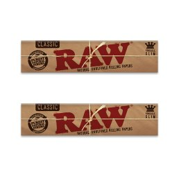 RAW Classic King Size Slim Rolling Papers – 2 Pack