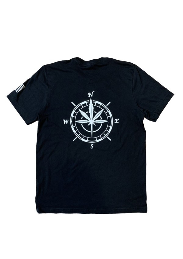 Dank Tourist Compass Back Black Tee
