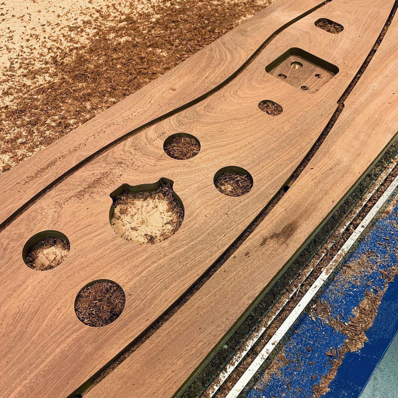 cnc machined mahogany dashboard
