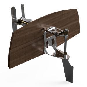 Classic boat transom mounted tiller steer hydraulic rudder classic boat rudder
