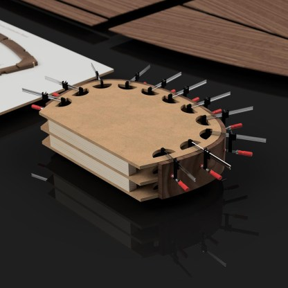 Laminating Mould CNC cut wooden boat building kits in the UK Rocket MkII Kit