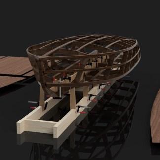 Rocket MkII Gentleman's Race Boat Kit CNC cut wooden boat building kits in the UK Rocket MkII Kit