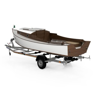 Waterman boat building plans and kit small tiller steered fishing skiff