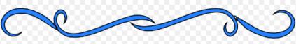 Small LIne Divider Blue