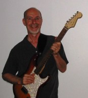 Dan with American Deluxe Ash Stratocaster