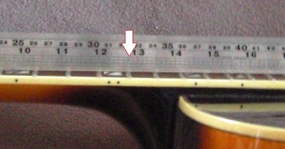 Scale Length Measurement = Twice distance from nut to 12th fret