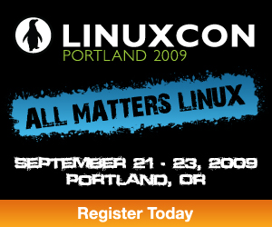 The advert for the original linuxcon event in 2009