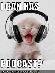 A lolcat wearing very large headphones
