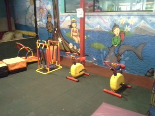 These pieces of exercise equipment are sized for children
