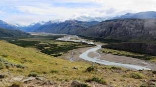 Braided glacier river