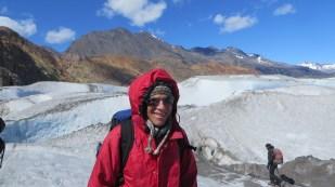 Dan explores the glacier