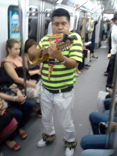 Buenos Aires has a great subway, and there are frequently entertrainers.