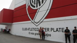 Entry to River Plate Stadium. Each of the City´s teams has their own statdium