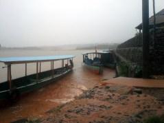 Muddy water was flowing everywhere