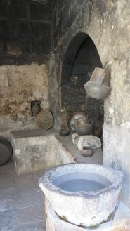 The convent kitchen. Water processing was a big deal
