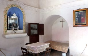 Interior of a nun´s home. All of them slept under arches in case of earthquakes, but their servants didn´t