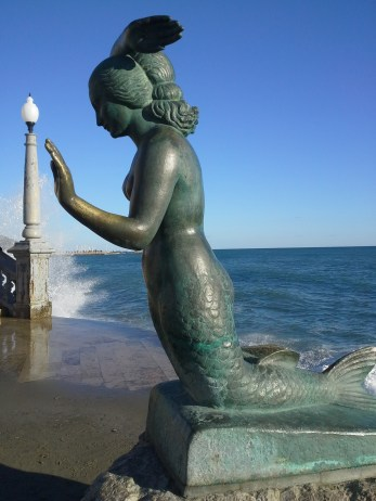 Mermaid on the Sitges shore