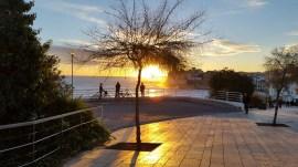 Cyclists enjoying the sunset
