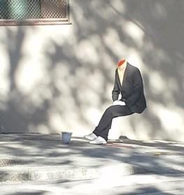 headless person waiting