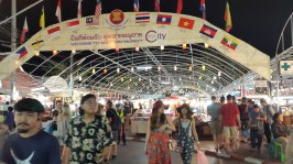 One of the night markets in Chiang Mai