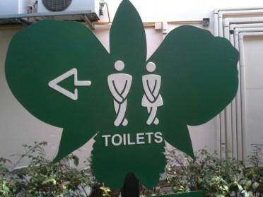 Creative rest room sign, Royal Park Rajapruek