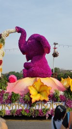 Floats were decorated with flowers like in our Rose Parade