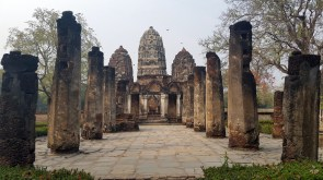 Wat Si Sawai - note how the tower's shape is similar to the temples in Cambodia