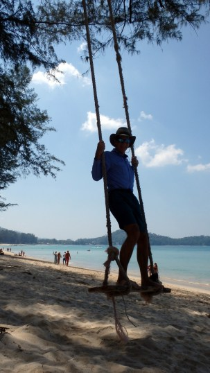 Swinging on Phuket's Laguna Beach