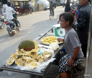 Durian for sale.