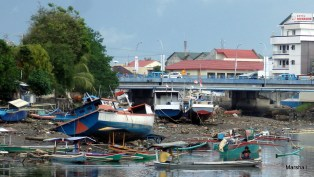 River bank at low tide, Manado, Sulawesi