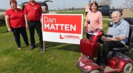 Dan Matten and former MPP Gord Miller