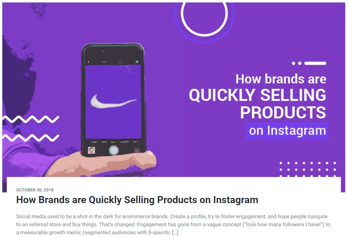 How Brands are Quickly Selling Products on Instagram