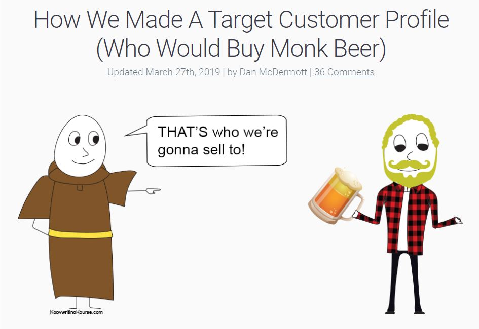 how we made a target customer who would buy monk beer kopywritingkourse.com