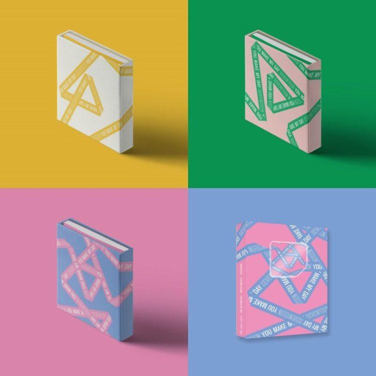 16日発売されるSEVENTEENのミニアルバムアルバム パッケージ