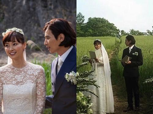 ウォン・ビンとイ・ナヨン。2人は2015年結婚した。