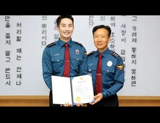 義務警察として国防の義務を全うしたキム・ヒョンジュン