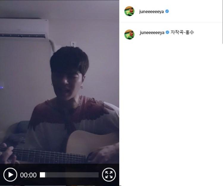 iKON ク・ジュンフェ INSTAGRAM 自作曲