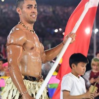 Tonga's Beautiful Flag Bearer Got A Nice, Oily Rub Down On The Today Show