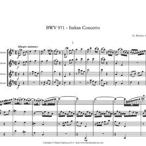 Bach - Italian Concerto - First Page