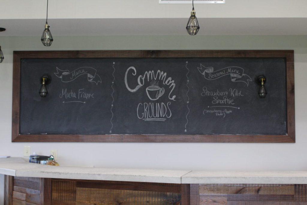 Youth Coffee Bar, DIY Chalkboard Menu Board