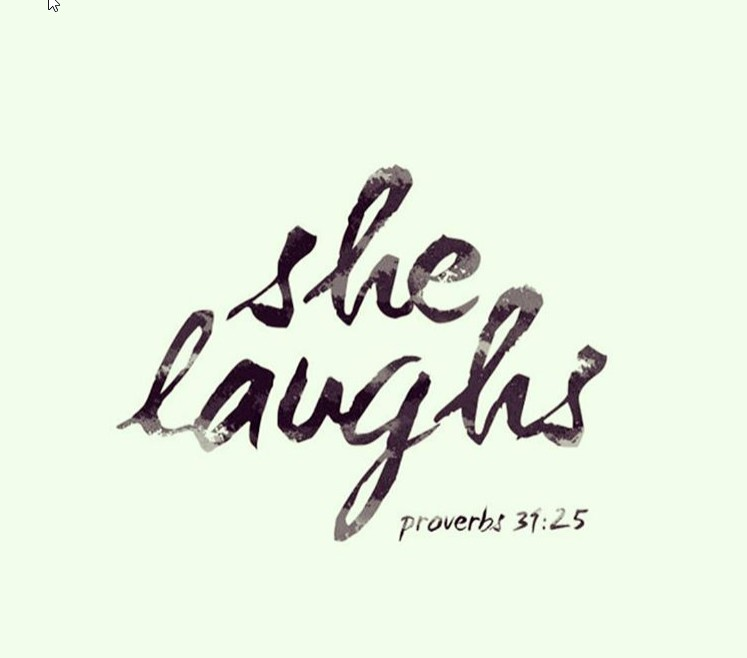 she laughs
