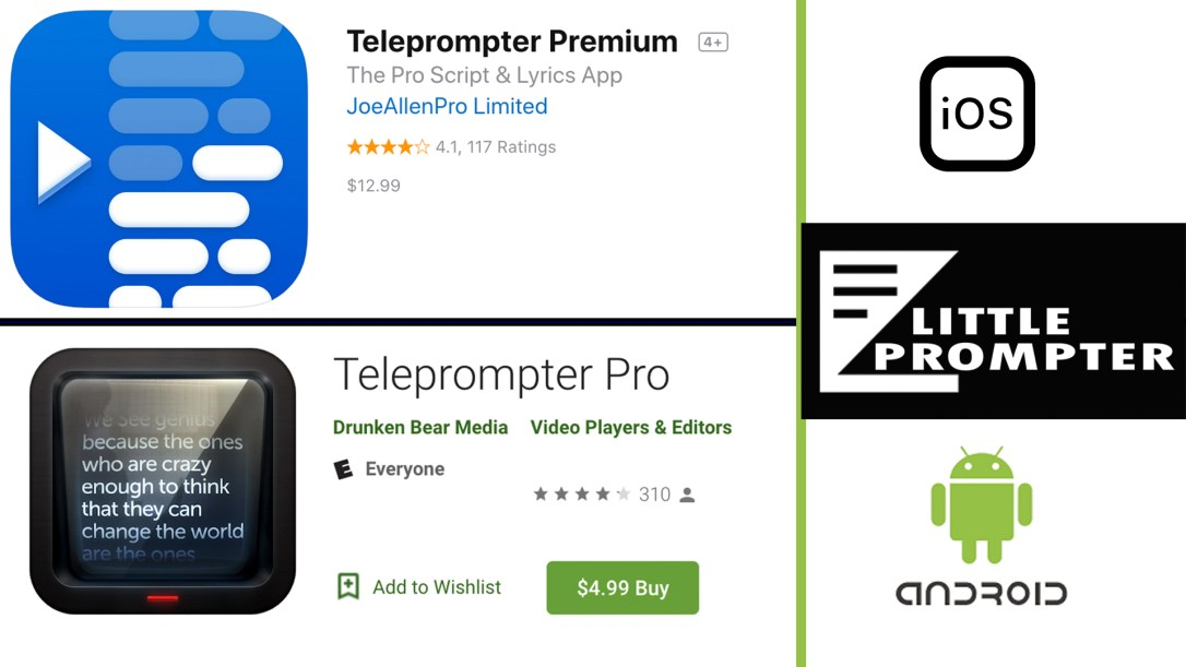 Recommended Teleprompter Apps for the Little Prompter