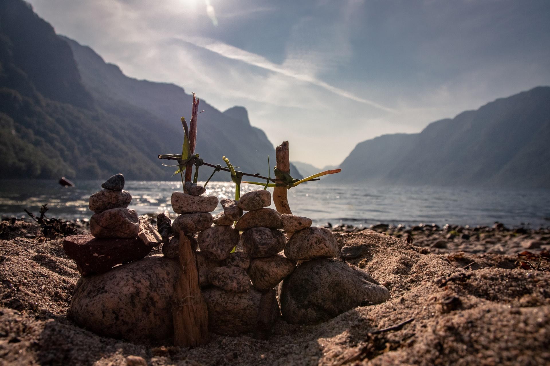 traveling fjord beach