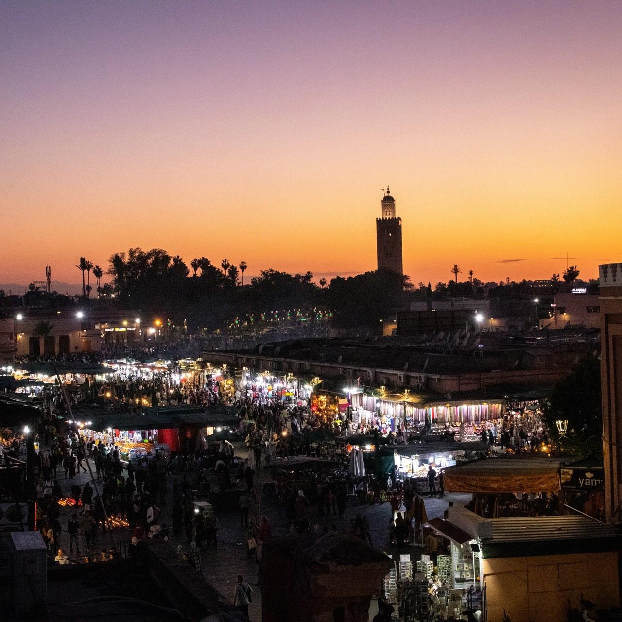 Marrakech by sunset