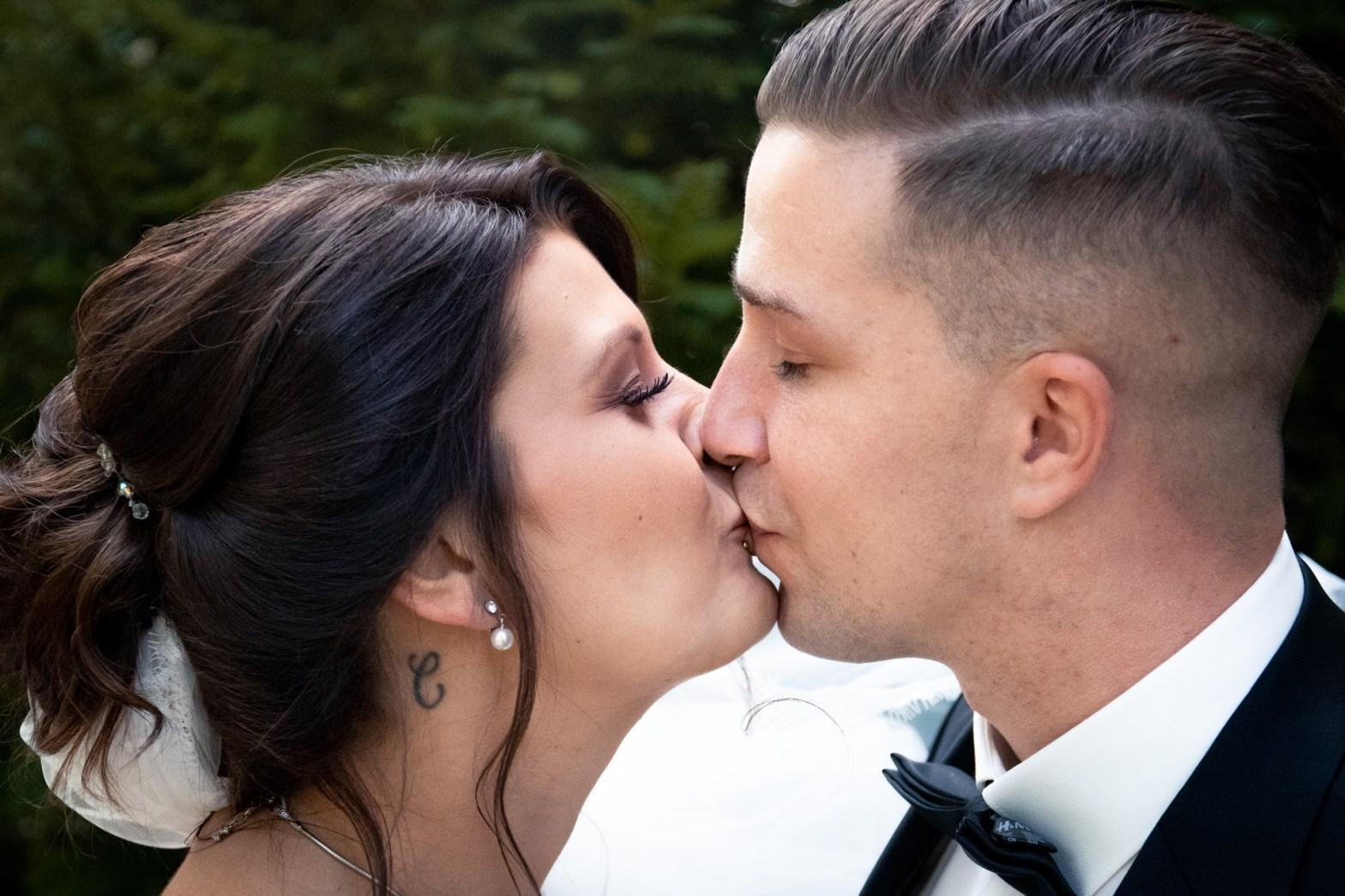 Hochzeitsfoto Braut und Bräutigam