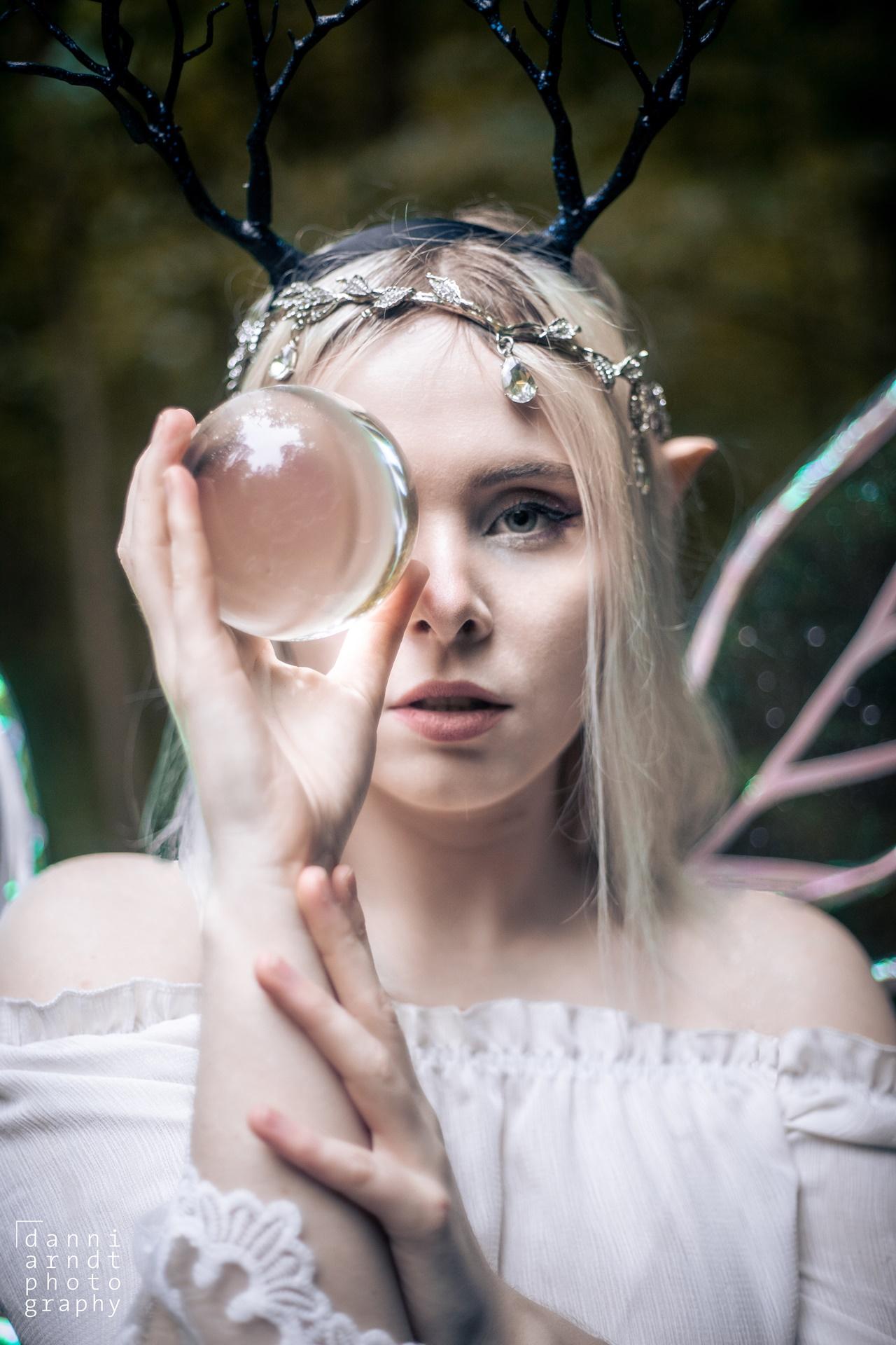 Fantasy Shooting Elfe Fee Denise weißes Kleid